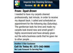 I needed to have my carpets cleaned professionally, last minute, in order to receive my...