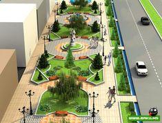 Landscape Model, Landscape Architecture Drawing, Landscape Design Plans, Garden Design Plans, Landscape Concept, Architecture Graphics, Urban Architecture, Urban Landscape, Urban Design Concept