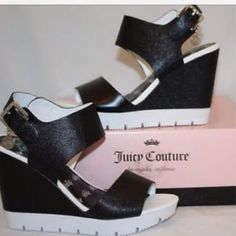 Nwt Juicy Couture wedges no trades No flaws new 4 inch heels Juicy Couture Shoes Wedges