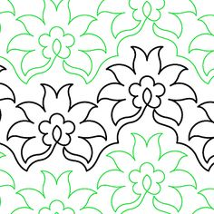 Pineapple Flower quilting pantograph pattern by Lorien Quilting Quilting Stencils, Quilting Templates, Stencil Patterns, Longarm Quilting, Free Motion Quilting, Machine Quilting, Machine Embroidery, Quilting Stitch Patterns, Quilt Stitching