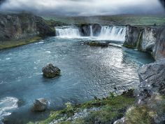 Goðafoss - Waterfall of the Gods.... northeast Iceland... so beautiful....