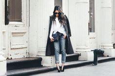 Weekend Wear :: Peekaboo stripes & Boyfriend jeans