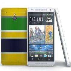 Coque HTC One Mini Rayures Jaune ( M4 ). #HTConeMini #Coque #case #Cover #Jaune