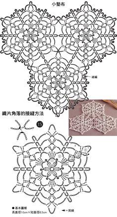 My Crochet Dream Crochet Tablecloth Pattern, Crochet Snowflake Pattern, Crochet Motif Patterns, Crochet Snowflakes, Crochet Diagram, Crochet Chart, Thread Crochet, Crochet Doilies, Crochet Flowers