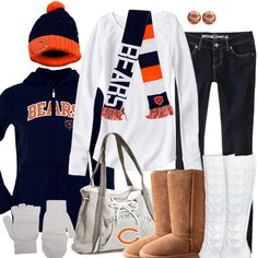 Bundle up for the big game in Cleveland Browns winter fashion. Keep warm in layers with a cardinals hoodie, a beanie, a scarf, and cute and comfy winter boots. Cleveland Browns Football, Cleveland Rocks, Sporty Chic Style, Go Browns, Brown Hoodie, Casual Outfits, Cute Outfits, Bear Hoodie, Site Nike