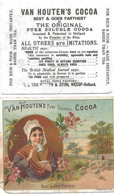 Late 1800s Van Houten's Cocoa trade card.