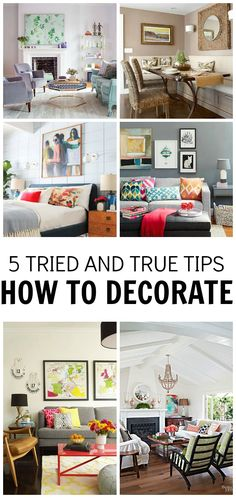 Decorating can be so daunting. Let me share with you some tips on how you can create an amazing space, things you can DO today.