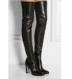 Womens-leather-sexy-block-high-heel-shoes-over-the-knee-thigh-boots-long-europe