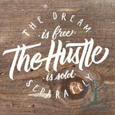 The Hustle Rustic Wood Look  Mancave Decor  by BrandiFitzgerald