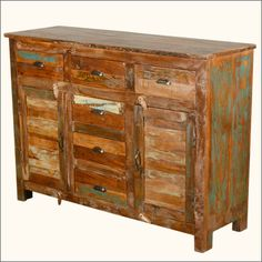 New Memories Reclaimed Wood 6-Drawer Buffet #SideboardCabinet #ReclaimedWood, 100% #Handmade, 1 Year Full Warranty  Sale Price: $774  http://www.sierralivingconcepts.com