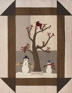 Winter:  Such a nice way to incorporate an old pattern with a fun scene.