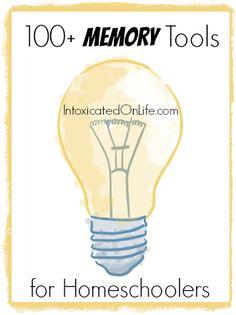 100+ Memory Tools for Homeschoolers @ IntoxicatedOnLife.com