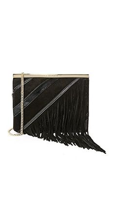 Diane von Furstenberg Women's Soiree Tuxedo Flap Patchwork Fringe Bag, Black Multi, One Size * More info could be found at the image url. (This is an affiliate link) Clutch Handbags, Fringe Bags, Diane Von Furstenberg, Tuxedo, Link, Stuff To Buy, Image, Scrappy Quilts, Tuxedos