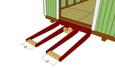 This step by step diy woodworking project is about how to build a shed ramp. If you want to learn more about building a shed ramp, we recommend you to pay attention to the instructions described in the article. 8x12 Shed Plans, Small Shed Plans, Wood Shed Plans, Free Shed Plans, Small Sheds, Diy Storage Shed Plans, Wood Storage Sheds, Diy Shed, Firewood Storage