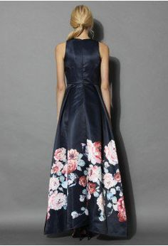 Endless Blooming Rose Maxi Gown Dress - Dress - Retro, Indie and Unique Fashion