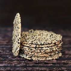 Nutty and aromatic Sesame Crisp - a nutritious low carb snack