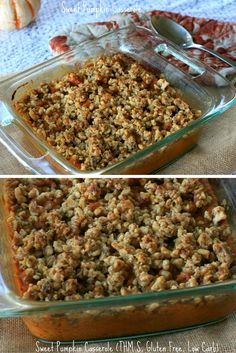 A THM S version of the Sweet Potato Casserole using Pumpkin- its gluten free, sugar free, and lower carb!