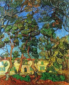 The Grounds of the Asylum (1889) by Vincent Van Gogh.