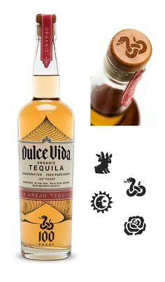 Dulce Vida Tequila, delicious organic hooch (based out of Austin, TX) that worked with Texican Cafe to host our Tequila Dinner. Cocktail Shots, Whiskey Cocktails, Peach Drinks, St Patricks Day Drinks, Tequila Bottles, Whiskey Girl, Scotch Whiskey, Bottle Packaging, Packaging Design