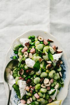 Broad Bean, Mint and Ricotta Salad