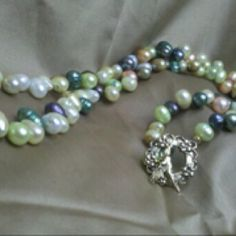 Stunning antique string of pearls, Eleanor Grace Design.  Contract me if you want more information.