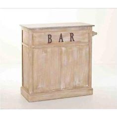 Meuble bar bois classique patiné zinc 109x46x106cm SANDRA - Achat / Vente meuble bar Meuble bar bois patiné zinc...      - Cdiscount