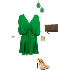 Green with Envy, created by moschetto on Polyvore featuring the Stella & Dot - Chantilly Lace Cuff