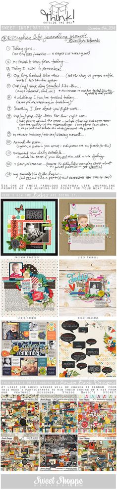 Looking for a fresh new take on a scrap challenge? Check out Sweet Shoppe Designs' Think Outside The Box challenge for October 5th and scrap along for your chance to win a kit from our Featured Designer's store and to start earning discounts every month!