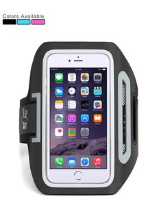 "Ampulla Sports Armband, Cell Phone Armband For Running with Dual Arm Straps Slots and Key Holder ,For All Cell Phones up to 6.0"" diagonal (Includes FREE Table stand) (Black). ★ ALL IN ONE ARMBAND - Our newest Cell Phone Armband has included the most common and the most functional features in the market. They includes universal phone holder, cystal clear touch friendly cover,handy key pocket, headset locker, dual pockets,wide range arm size fit porthhole and more different unique designs…"