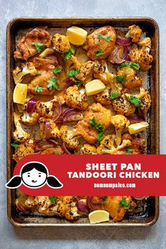 This quick and easy Sheet Pan Tandoori Chicken is a delicious Indian-inspired Whole30 and keto-friendly meal the whole family will love! #whole30 #paleo #glutenfree #dairyfree #sheetpandinner #sheetpanchickendinner #chickendinner #quickandeasy