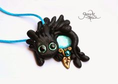 How to train your dragon - blue Hablaty - night fury - jewelry