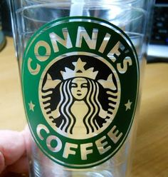 My Starbucks Coffee Cup - must make one of these with my name