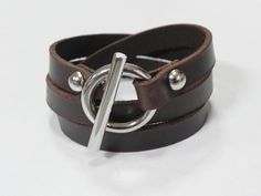 Brown Leather Bracelet Leather Cuff  Wrap Bracelet by BeadSiam, $10.00