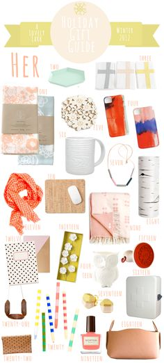 I seriously want every. single. thing! A Lovely Lark: Holiday Gift Guide 2012: Her