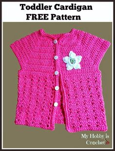 My Hobby Is Crochet: Toddler Short Sleeved Cardigan | Twin V- Stitch - ...