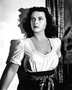 """Hedy Lamarr by Clarence Sinclair Bull, publicity portrait for """"Tortilla Flat"""", 1942."""