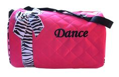 Dance bag - Quilted Zebra Duffle *** Click image to review more details. (This is an Amazon Affiliate link and I receive a commission for the sales)