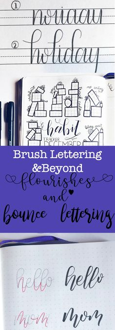 Learn how to add flourishes to your brush lettering and how to do bounce lettering in this one informative post