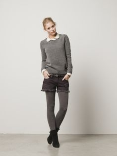 Knitted sweater with removable zip-trimmed collar: Scotch & Soda