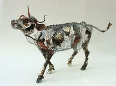 Artist Barbara Franc transforms recycled materials and bits of wire into elaborate sculptures of living creatures from every branch of the animal kingdom.  Read more: Barbara Franc Transforms Recycled Objects Into Amazing Animal Sculptures | Inhabitat - Sustainable Design Innovation, Eco Architecture, Green Building