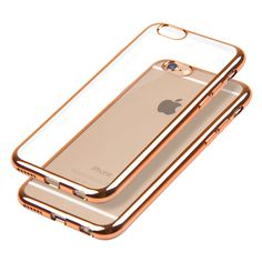New Style For iPhone 6 / 6S Case Royal Luxury style Plating Gilded TPU Phone Case silicone soft Back Cover Bag Accessory Coque