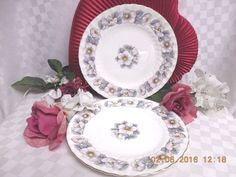 Foley, Bone China Dinnerware England Pattern #: 3342  Glenbriar. 4 salad Plate #Foley