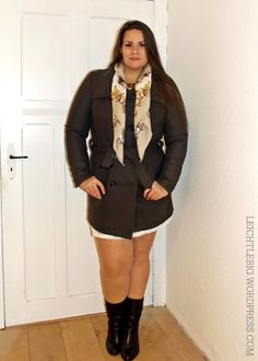 outfit musical fall winter dress coat plus size