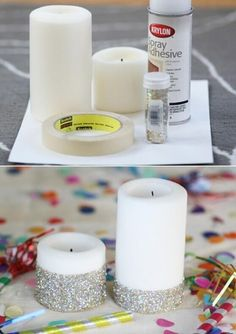 DIY glamour candles