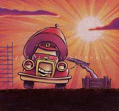 Tom Lichtenheld Goodnight Goodnight Construction by TomsBookArt, $775.00