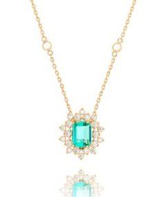 colar luxuoso tiffany com zirconias de qualidade agua marinha semi joias online