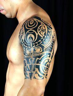 Shoulder tattoos for men mens shoulder tattoo ideas with tattoo on shoulder maori tattoo designs, Polynesian Tattoo Designs, Maori Tattoo Designs, Unique Tattoo Designs, Tattoo Sleeve Designs, Tribal Shoulder Tattoos, Mens Shoulder Tattoo, Shoulder Tattoos For Women, Shoulder Tats, Shoulder Sleeve