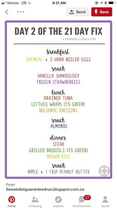 Day 2 of 21 day fix – Famous Last Words 21 Day Fix Menu, 21 Day Meal Plan, 21 Day Fix Diet, 21 Day Fix Meal Plan, Healthy Weekly Meal Plan, 21 Day Fix Snacks, Week Diet, Beachbody 21 Day Fix, Beachbody Meal Plan