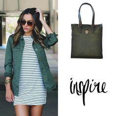 Inspire. Pratesi Bibbiena Dark Green. #pratesi #green #bag #darkgreen #fashion #outfit #ootd #style