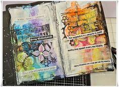 Jorunns fristed: Art Journaling Boom Shakalakah Art Journaling, Journal Ideas, Van Gogh, Mixed Media, Stress, Album, Day, Art Diary, Performing Arts